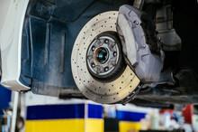 Brake Disc Of Car In Garage