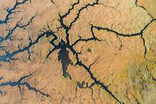 Aerial Image Of Dalyan A Region A Wetland, A Delta