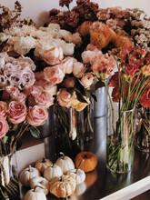 Autumn Mood In Flower Shop
