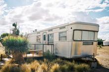 Texan Caravan Trailer House In The Dessert.