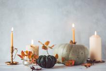 Autumnal Still Life Featuring Pumpkin