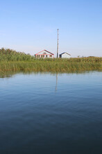 A Small House In The Middle Of A Wetland