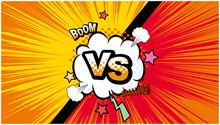 アメコミ風 対決 戦い VS 背景