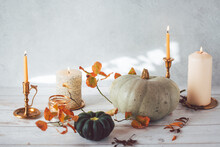 Autumnal Still Life Featuring Pumpkin