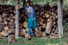 A Woman In Her Woodshed