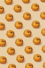 Vertical Pattern From Natural Organic Pumpkins.