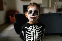 Adorable Little Skeleton Pouting Lips