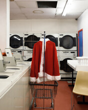 Red Santa Suit Costume Get Cleaned