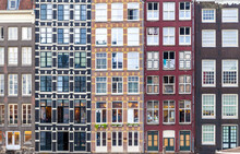 Traditional Residential Building Windows In Amsterdam