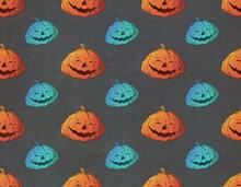 Halloween Pumpkin Pattern Illustration