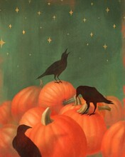 Pumpkin And Raven