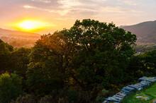 Sunset Looking To Llyn Padarn Lake
