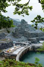 Headquarters And Excavators In Slate Mine