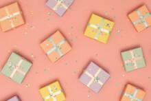 Randomly Arranged Pastel Presents
