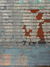 Peeling Paint Over Corrugated Metal