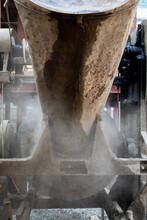 A Concrete Mixture In Action.