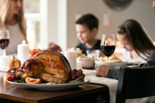 Thanksgiving: Family Says Grace Before Meal