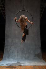 Aerial Artist In A Beautiful Pose On A Lyra Or Aerial Hoop 1