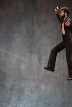 Man Walking On A Rope 04