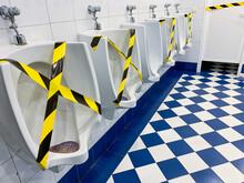 Public WC During Coronavirus Pandemic.