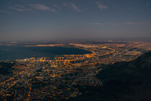 Cape Town At Night, South Africa