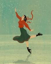 Ice Skating Girl