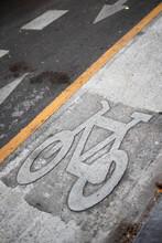 Bike Sign On The Street