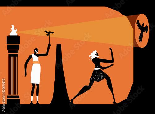 Billede på lærred plato philosophy allegory of the cave