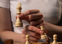 Castling In Chess. Concept Of Tricking, Changing, Thinking, Strategic Planning