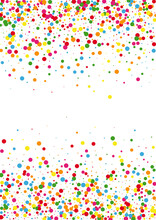 Red Circle Dust Background. Round Pastel Texture. Yellow Party Dot. Orange Cover Confetti Illustration.