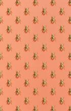 Vertical Pattern From Metal Golden Scarab Beetles.