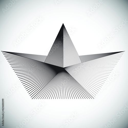 Stampa su Tela Triangle Logo with lines