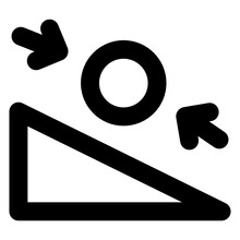 Incline Plane Glyph Style Icon