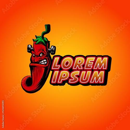 Obraz na plátně Frankenstain chilies style vector illustration