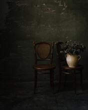 Still Life With Chairs And Flowers