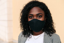 Black Woman With Face Mask