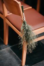 Field Broom Grass Bouquet In Church