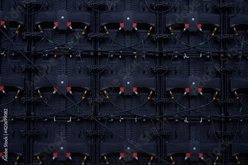 Big Screen Monitor Display group LED Panels backside rear view