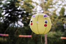 Close-up Cute Little Lantern In Outdoor Natural Background
