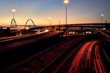 Dallas Highway Junction At Night
