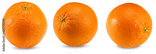 Fototapeta collection of orange fruits isolated on white background. healthy food. clipping path obraz