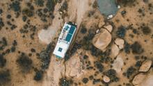 Camping Truck In Mojave Desert
