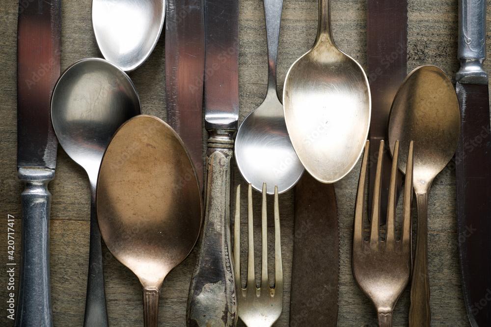 Fototapeta Kitchen cutlery collection