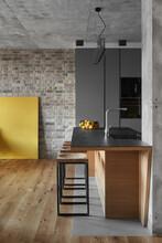 Modern Kitchen In Loft Style