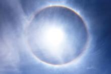 Sun With Circular Rainbow