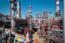 An Oil Refinery Or Gas Refinery