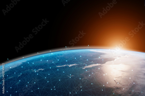 Fotografia Global connection The best in the world of wireless connections Best Global Business Internet Ideas from Artificial Intelligence Concept Set