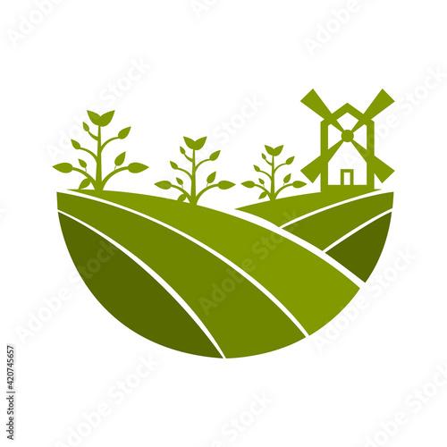Fototapeta farm icons on white background, vector illustration