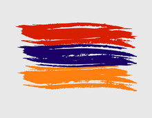 Armenia Country Tricolor Flag Brush Texture