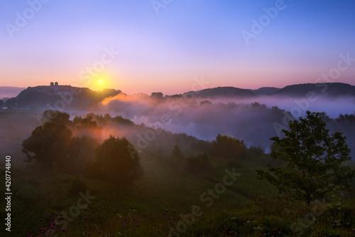 Fototapeta sunrise over the river obraz